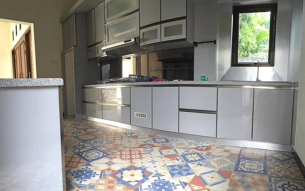 35 Desain Dapur Minimalis Sederhana Dan Modern Terbaru 2018 Dekor Warna Mozek Desainrumahid Tiles Terkini