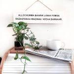 Model Hiasan Dinding Dapur Bermotif Islami Dengan Sirih Gading