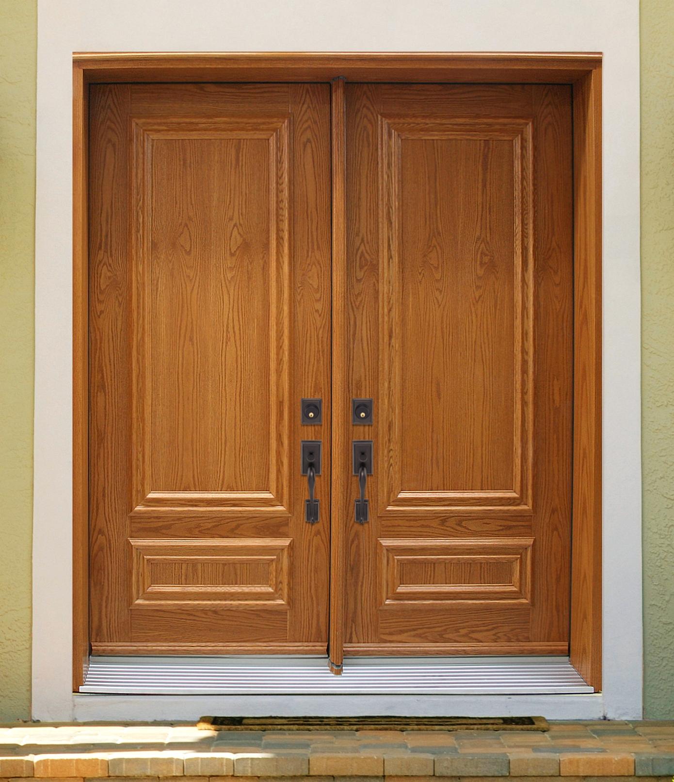 Model Pintu Utama Rumah Minimalis 2 Pintu Elegan Dari Kayu