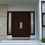 Pintu Kayu Minimalis Untuk Pintu Utama Rumah Mewah Elegan