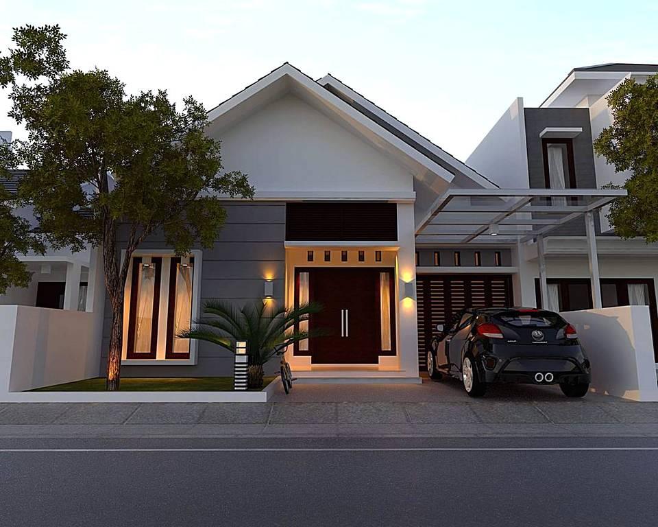Gambar Rumah Tampak Depan Pakai Batu Alam Gumpang Residence