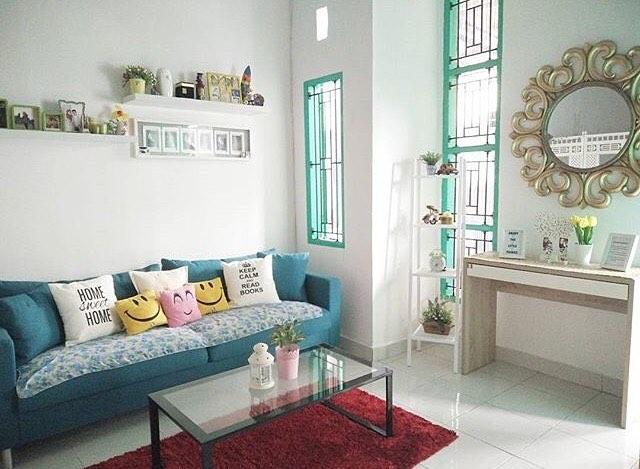 Desain Ruang Tamu Shabby Chic Minimalis Cantik Terbaru