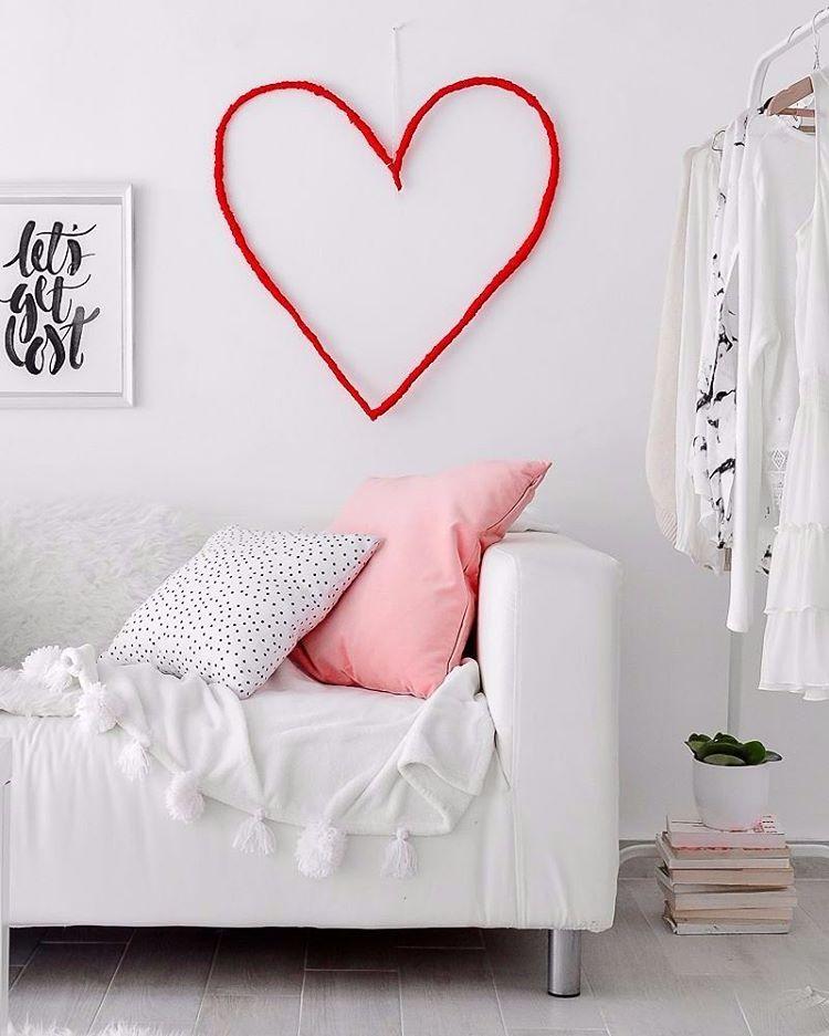 Hiasan Dinding Berbentuk Love Hati Heart Buatan Sendiri