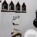 Dekorasi Dapur Dengan Hiasan Dinding Tulisan Dari Stik Es Krim