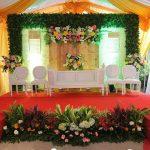 Dekorasi Pelaminan Pernikahan Di Rumah Terbaru Konsep Modern Elegan