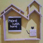 Dekorasi Sakelar Lampu Rumah Hasil Kerajinan Stik Es Krim