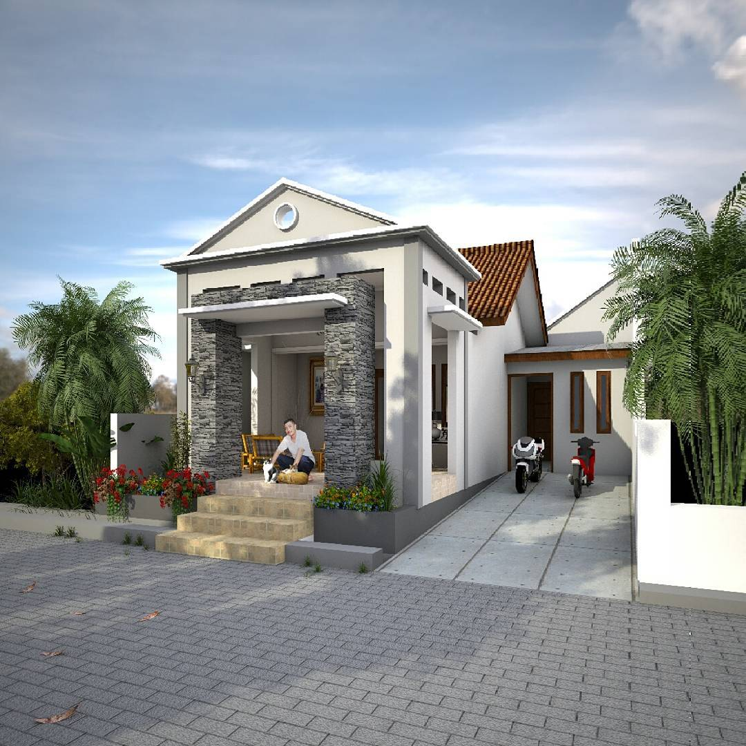 18 Gambar Rumah Minimalis Tampak Depan Lahan Sempit Terbaru 2018