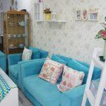 Desain Interior Ruang Tamu Minimalis Shabby Chic