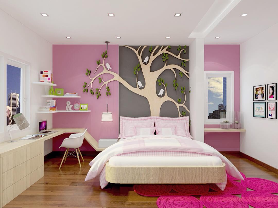 17 desain dan dekorasi kamar tidur perempuan remaja/dewasa terbaru