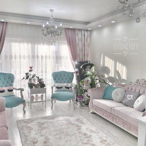 30 desain ruang tamu shabby chic minimalis cantik terbaru
