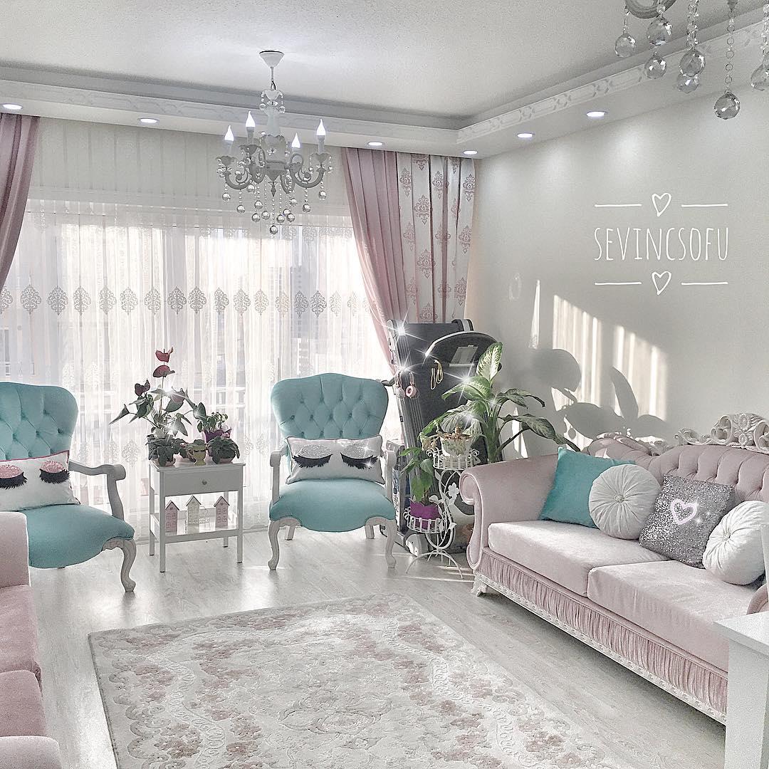 30 Desain Ruang Tamu Shabby Chic Minimalis Cantik Terbaru 2018