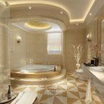 Kamar Mandi Hotel Mewah Dengan Keramik Lantai Kamar Mandi Yang Cantik Terbaru