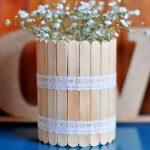 Kerajinan Tangan Dari Stik Es Krim Vas Bunga