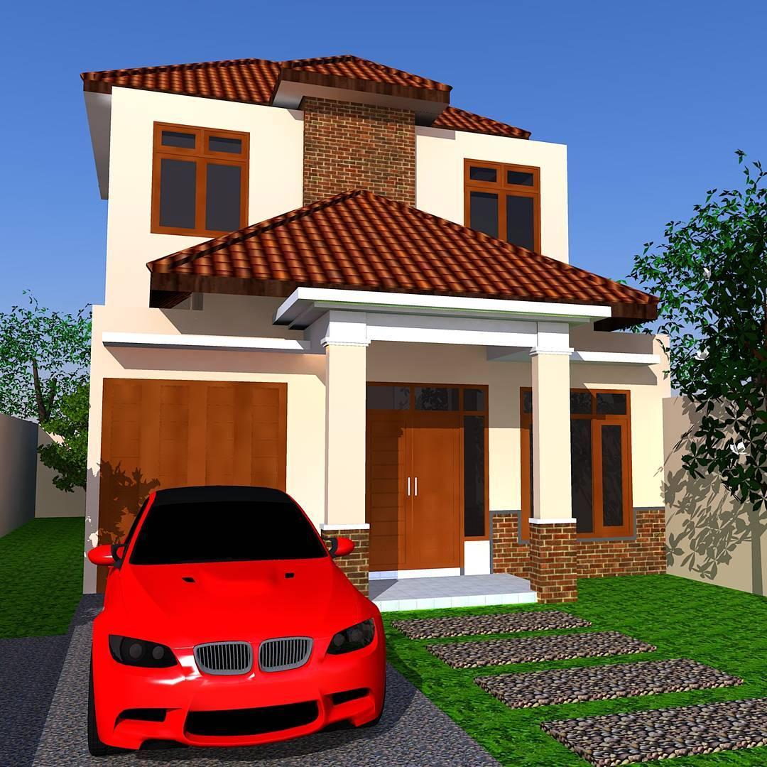 Perpaduan  Warna Coklat Rumah