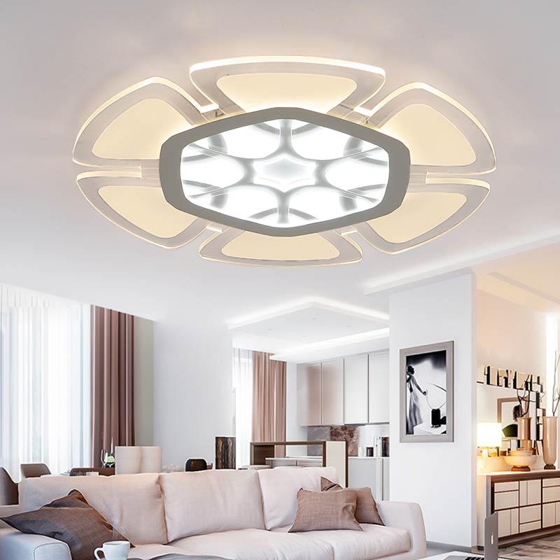 Lampu Hias Ruang Tamu Dengan Plafon Gypsum Cantik