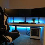 Meja Komputer Gaming 3 Monitor