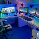 Meja Komputer Gaming 4 Monitor