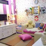 Menata Ruang Tamu Yang Menyatu Dengan Ruang Keluarga Shabby Chic