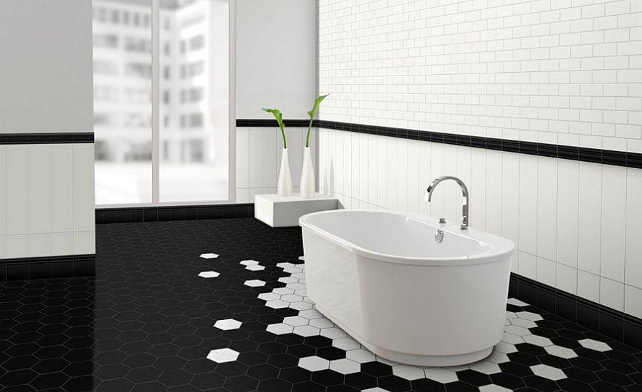 Model Kamar Mandi Hotel Dengan Keramik Lantai Kamar Mandi Berbentuk Hexagonal Terbaru