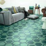Motif Keramik Lantai Ruang Tamu Unik Warna Hijau