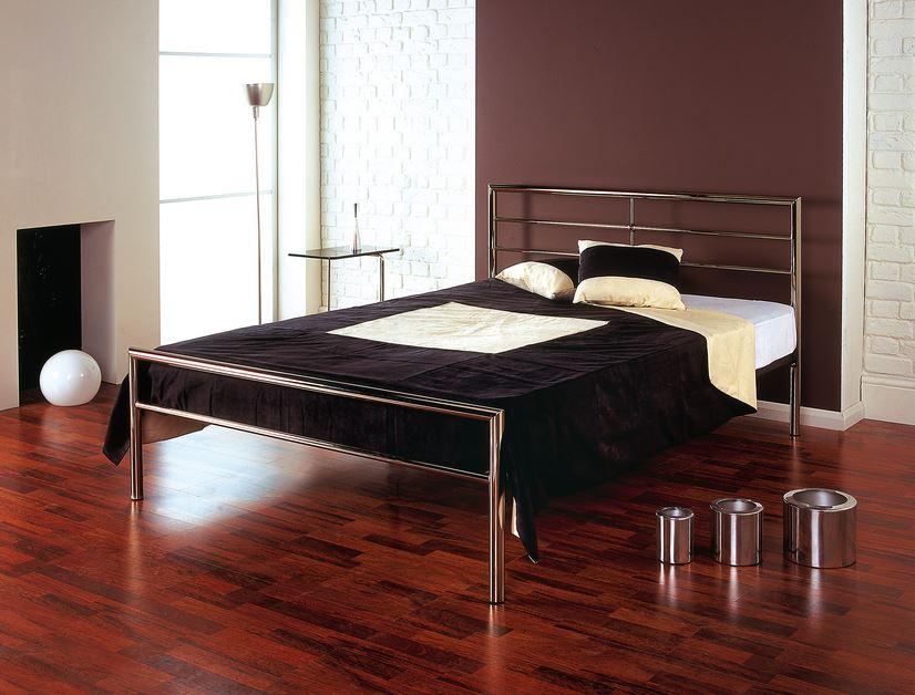 Ranjang Besi Minimalis Modern Stainless Steel Metal Beds