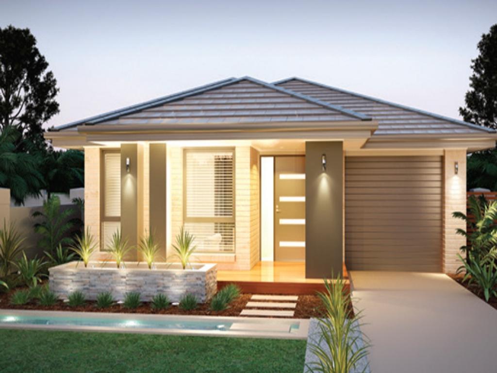 21 model rumah sederhana tapi kelihatan mewah terbaru 2018 for Modern 1 bedroom house plans