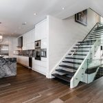 Modern Stairs Glass Wood Metal Kitchen Entrance Contemporary House In Toronto