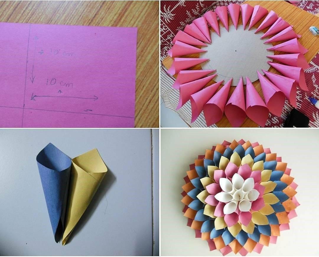 Diy Cara Membuat Bunga Dari Kertas Untuk Hiasan Dinding Video