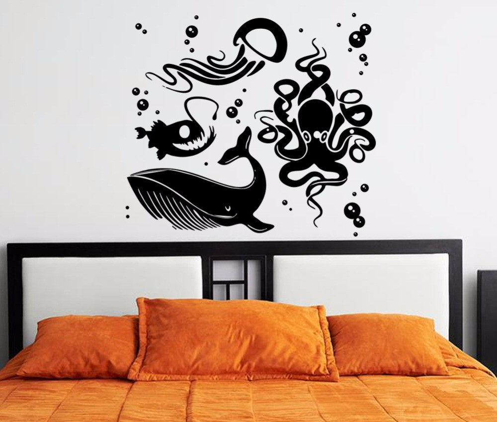 Wall sticker murah di bali custom sticker for Mural hidupan laut