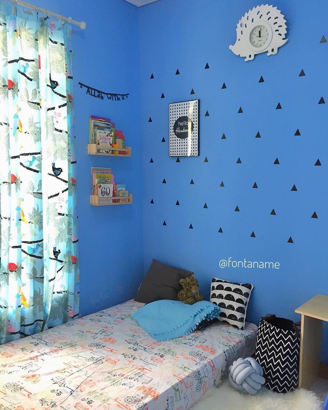 105 Harga Wallpaper Dinding Kamar Tidur Warna Biru ...