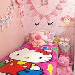 Dekorasi Dinding Kamar Tidur Anak Perempuan Ukuran Kecil