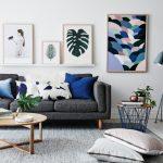 Dekorasi Dinding Ruang Tamu Dengan Lukisan Cantik