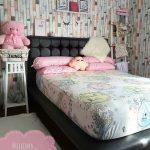 Dekorasi Interior Kamar Tidur Perempuan Terbaru Minimalis Dengan Wallpaper Dinding Terbaru