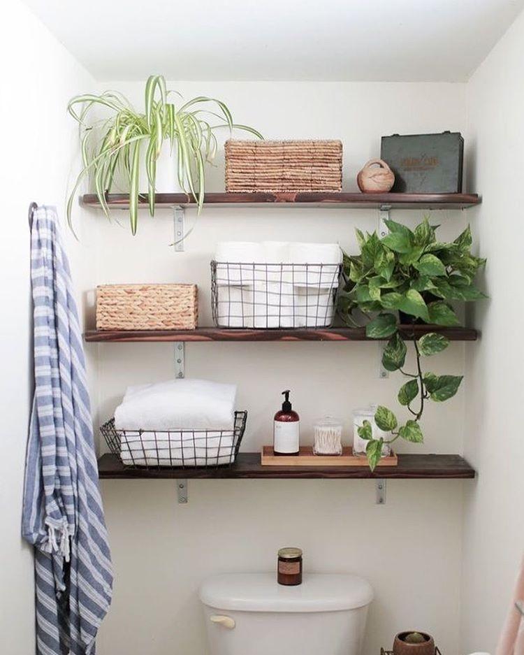 dekor dinding kamar mandi rumah minimalis modern foto