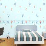 Dekorasi Kamar Tidur Warna Biru Dengan Wallapaper Dinding Motif Terbaru Cocok Untuk Dekorasi Kamar Kost