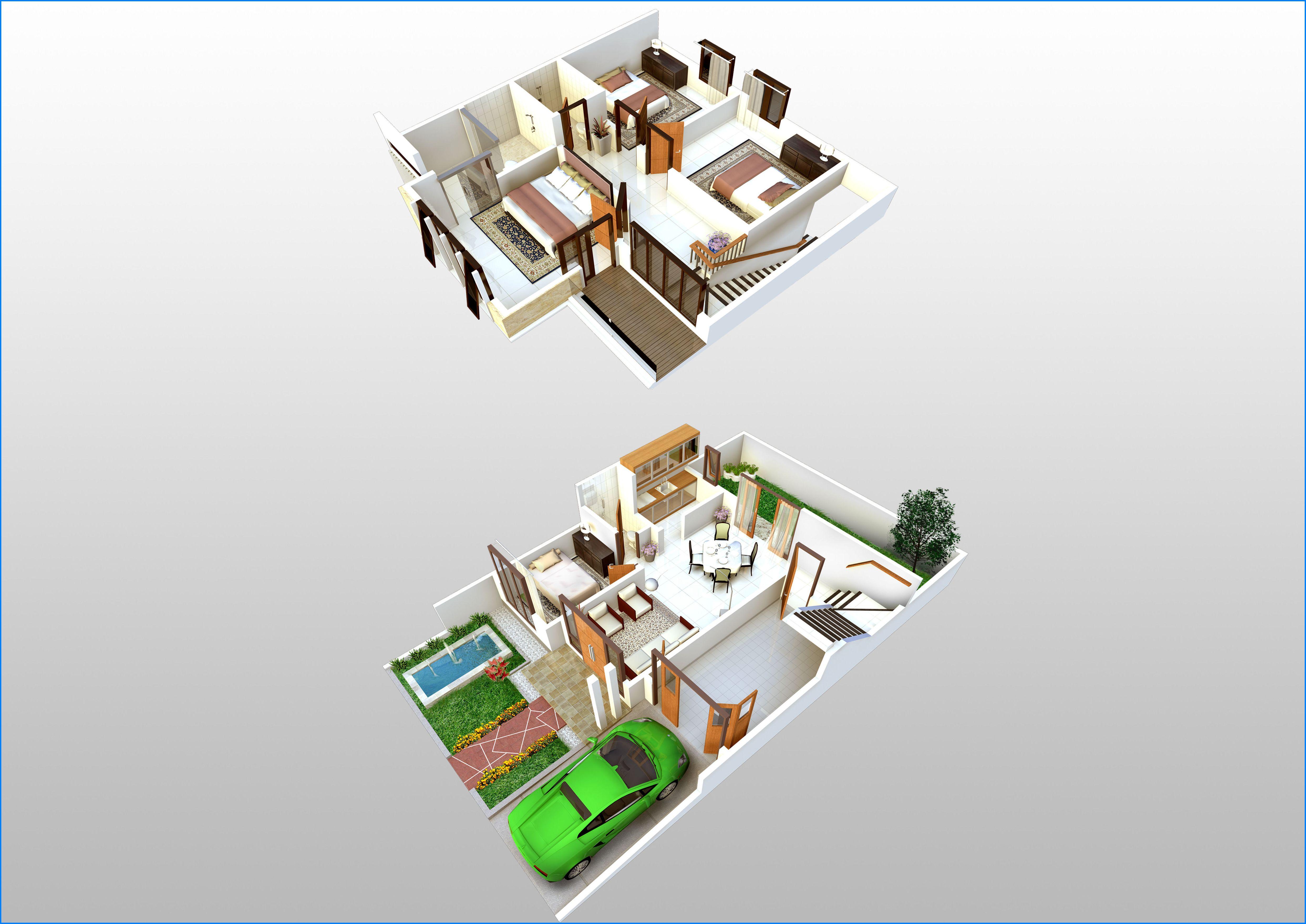 14 Denah Rumah Minimalis 2 Lantai Modern Sederhana 2017 Dekor Rumah