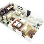Denah Rumah Minimalis 2 Kamar Tidur 1 Lantai Terbaru Dengan Ukuran Gambar Yang Besar