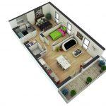 Denah Rumah Minimalis 2 Kamar Tidur Untuk Perumahan Sederhana