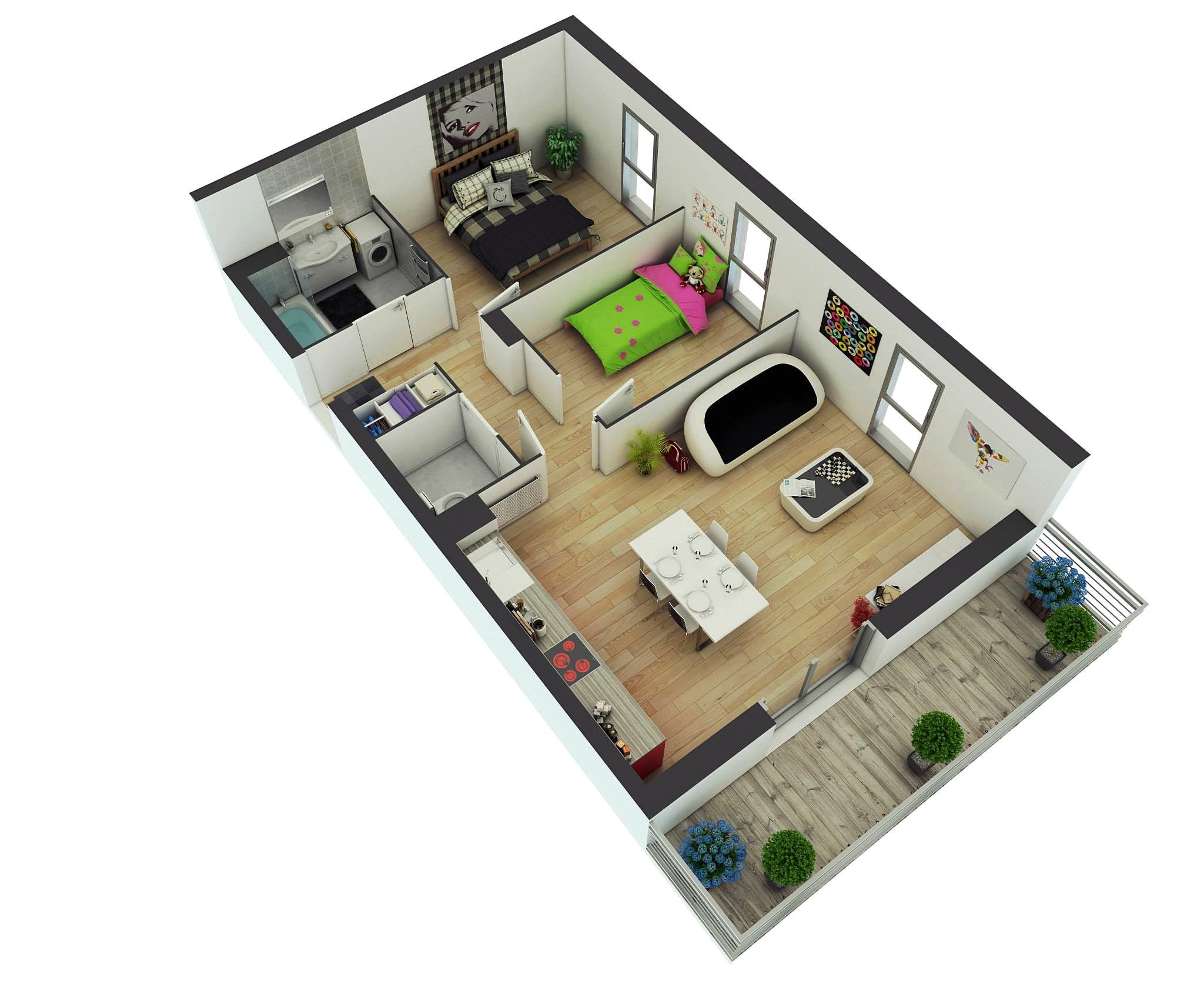 100 Denah Rumah Minimalis Plus Toko