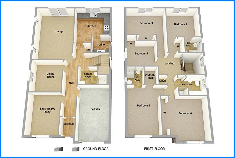 14 Denah Rumah Minimalis 2 Lantai Modern Sederhana 2019 Dekor Rumah