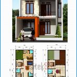 Denah Rumah Minimalis 2 Lantai 8x12