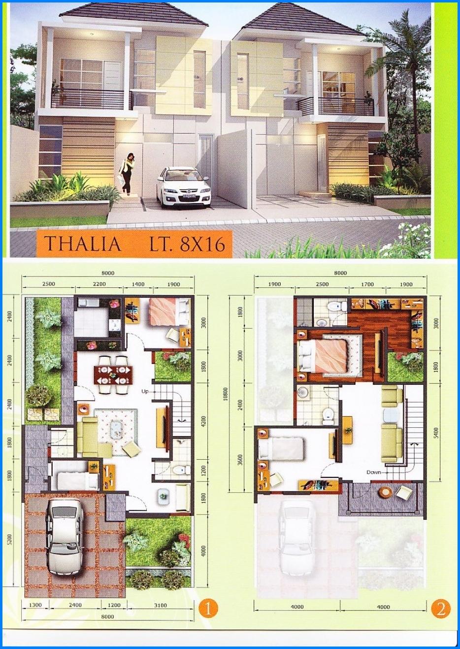 70 Desain Rumah Minimalis Modern 2 Lantai Type 200