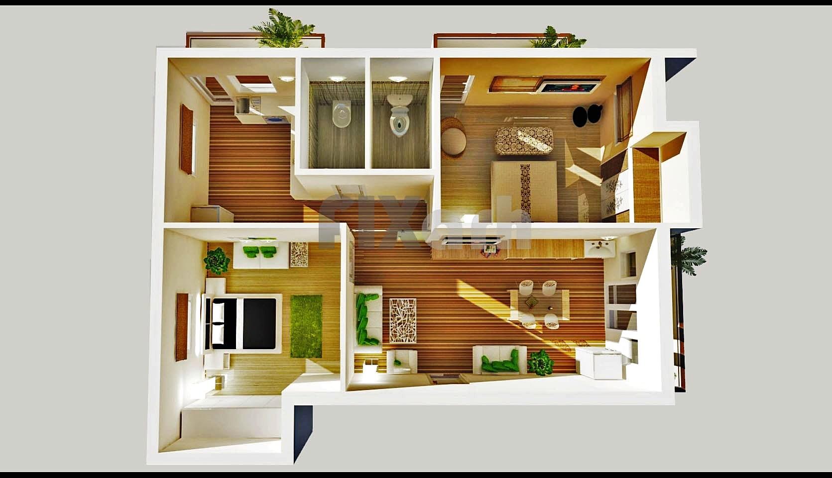 Denah Rumah Sederhana Minimalis 2 Lantai 3d Desain Rumah Minimalis