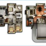 Denah Rumah Sederhana 2 Lantai Minimalis Ukuran Kecil 3d