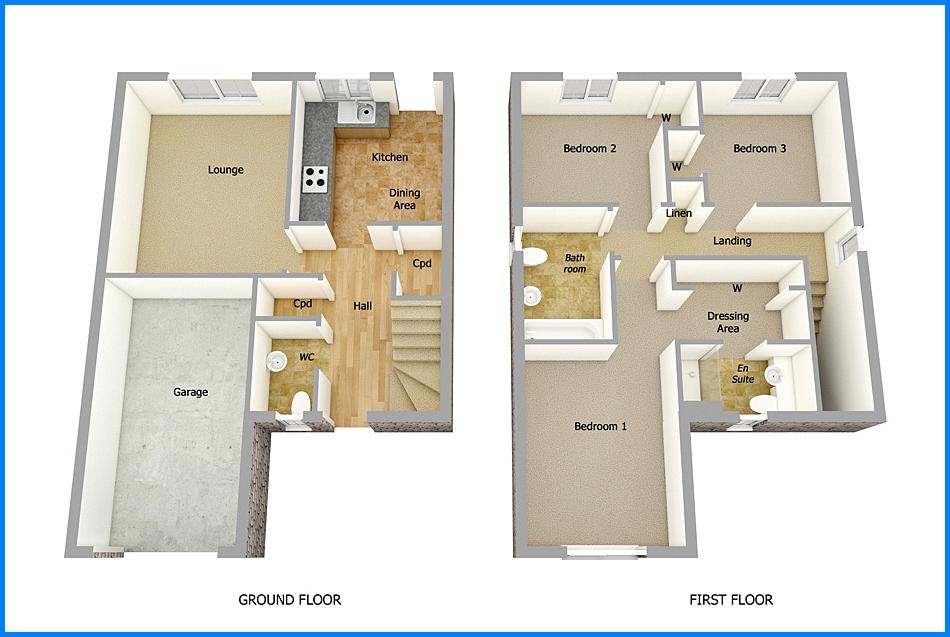 14 Denah Rumah Minimalis 2 Lantai Modern Sederhana 2018 Dekor