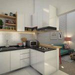 Desain Dapur Minimalis Modern Berdekatan Dengan Ruang Keluarga