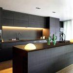 Desain Dapur Minimalis Modern Dengan Warna Cat Hitam Kitchen Set