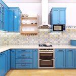 Desain Dapur Sederhana Dengan Wallpaper Keramik Dinding