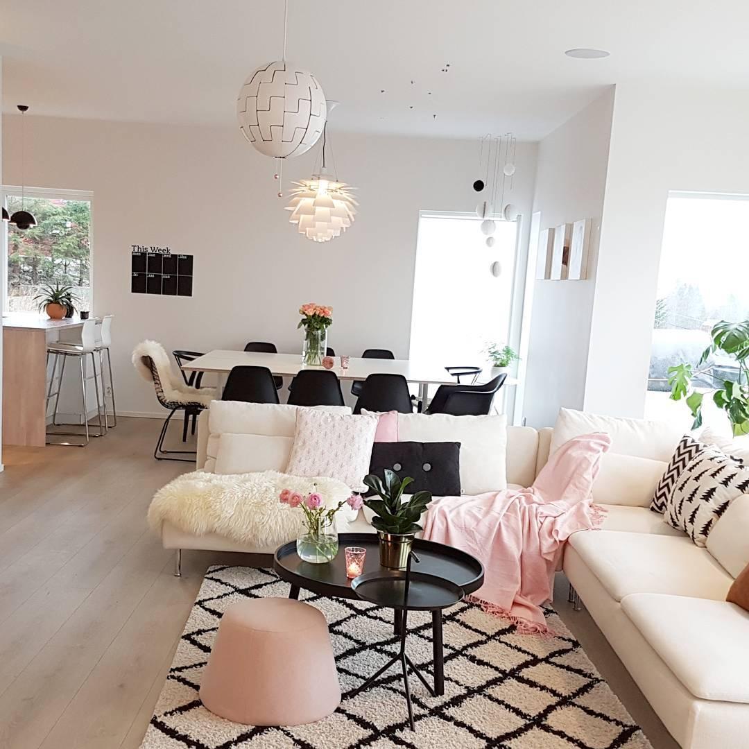 Desain Interior Ruang Tamu Keluarga Makan Dan Dapur Menjadi Satu