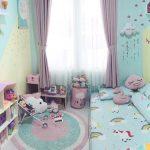Desain Kamar Anak Perempuan Minimalis Tampa Ranjang Atau Lesehan Terbaru